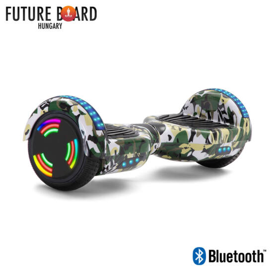 Future Board Camouflage X6 - Bluetooth - Világítós kerekek - Táska