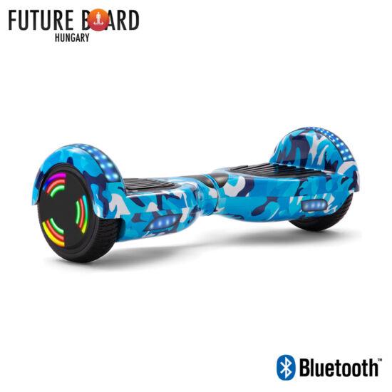 Future Board Blue Camo X6 - Bluetooth zenelejátszás - Világítós kerekek