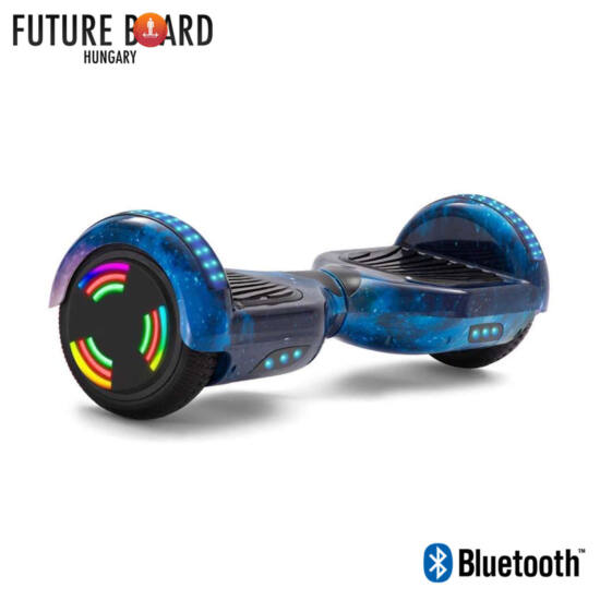 Future Board Blue Galaxy X6 - Bluetooth - Világítós kerekek - Táska