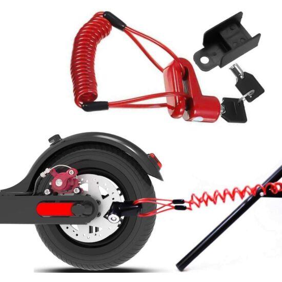 Univerzális huzalos tárcsazár rollerekhez és kerékpárokhoz
